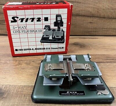 Stitz Universal 3 Way Cine Film Splicer Super Regular 8 16 MM Vtg Japan