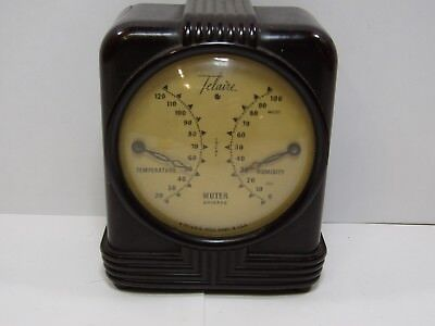 Vintage MUTER Deco desk weather station BAKELITE Thermometer Humidity (537