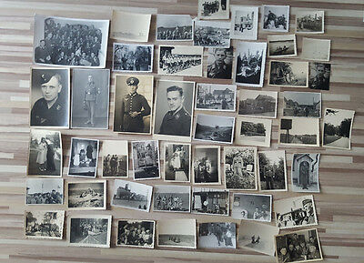 Lot 50 Vintage Original Ww2 German Army Real Photos Officers Soldiers Uniforms 9