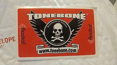 Radial TONEBONE EFFECT PEDAL  BUMPER OR GUITAR CASE STICKER free USA SHIPPING
