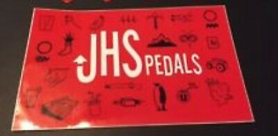JHS  EFFECT PEDAL RED  BUMPER OR GUITAR CASE STICKER free USA SHIPPING