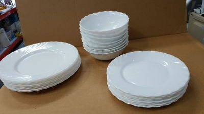 22x ARCOPAL FRANCE Dinner Plates + desert plates + cereal bowl