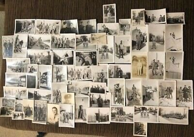 Lot Of WW2 Military Base Camp Soldier Photos 60+ Old Pictures