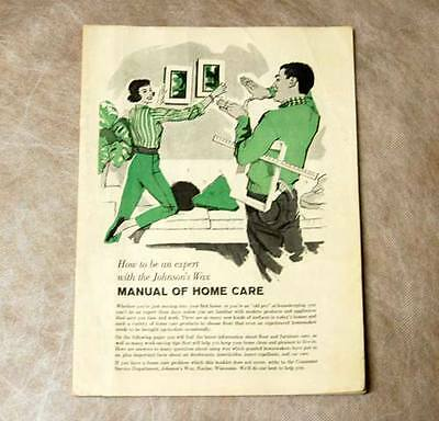 Johnson's Wax Consumer Manual of Home Care Tips 60s Vintage Advertising Brochure