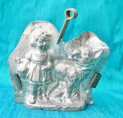 Vintage Chocolate Mold Little Red Riding Hood Wolf Anton Reiche 5 inches