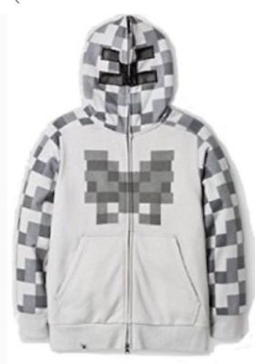 Minecraft Jinx Kids Boy's Creeper Hooded Sweatshirt Gray Size  SMALL NEW