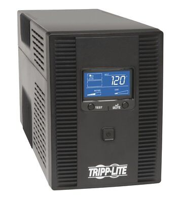 Tripp Lite 1500VA UPS Battery Back Up AVR LCD Display 10 Outlets 120V 810W Tel