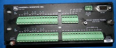 Campbell Scientific CR10X Weather Data Logger Control Module Wiring Panel