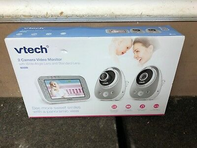 Vtech (VM342-2) 2 Camera Video Baby Monitor w/Standard & Wide Angle Lens New