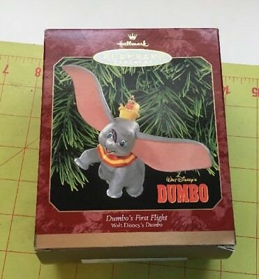 1999 DUMBO'S FIRST FLIGHT NEW Hallmark Disney Dumbo & Timothy Mouse Ornament