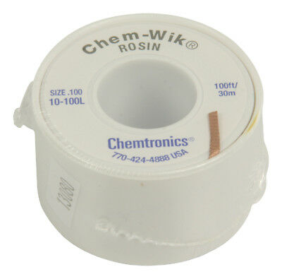 Chem Wik Rosin Desoldering Braid / Wick 2.54mm Wide - 30 metre Reel