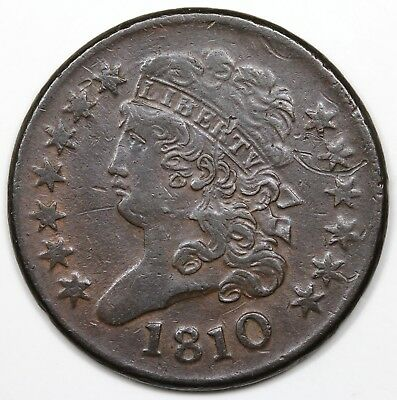 1810 Classic Head Half Cent, VF+ detail