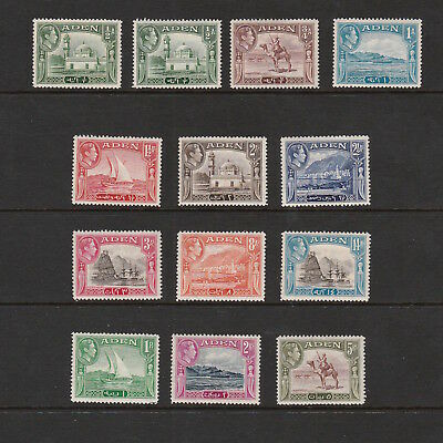 Aden 1939 Set Of King George Vi Stamps To Five Rupees Mint