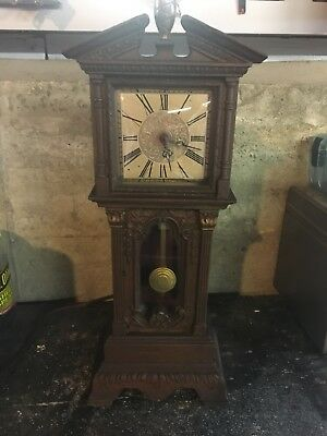 1930's-1950's Hansen by Haddon Vintage Electric Mini Grandfather Clock