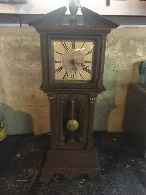 1950's Hansen by Haddon Antique Electric Mini Grandfather Clock