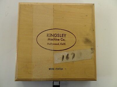 Kingsley EDM Twelve Wire Holding Fixtures-.055 to .116 Dia Used/ with Wood Box