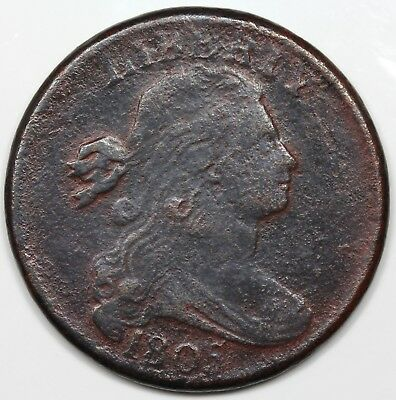 1805 Draped Bust Large Cent, Blunt 1, VF detail