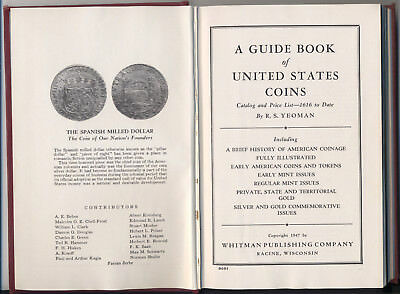 A Guide Book of United States Coins by R.S. Yeoman. 1948 red book. Hardcover
