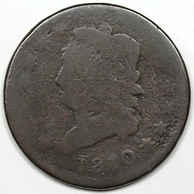 1810 Classic Head Large Cent, AG detail