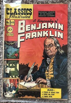 CLASSICS ILLUSTRATED #65 Biography of Benjamin Franklin