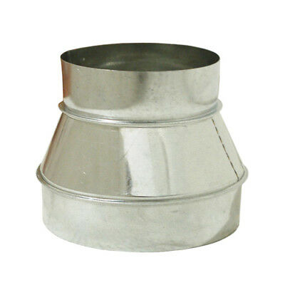 """8"""" x 6"""" Inch Duct Reducer Galvanized Steel for Air Ducting Ventilation 8 to 6"""