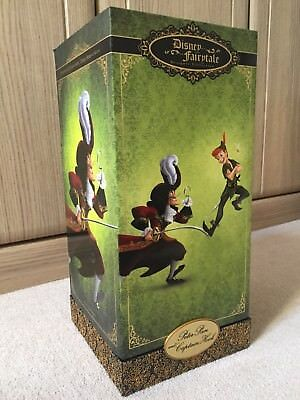 Disney Limited Edition Fairytale Designer Peter Pan Captain Hook & Tink Doll Set