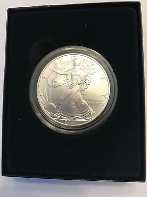 2007 American Silver Eagle Uncirculated Dollar Ogp & Coa