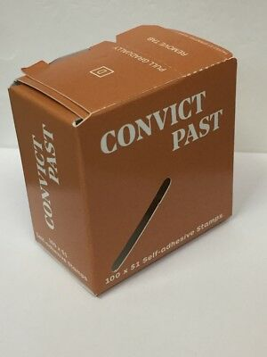 EMPTY USED Box Convict Past 100 x $1 Stamps Australia Post Collector Memorabilia