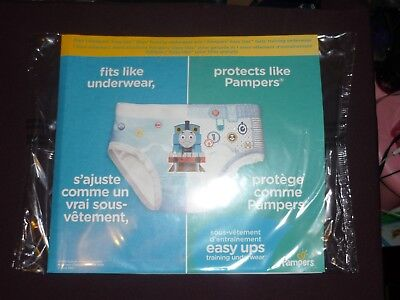 Pampers Easy-Ups 2 Pair Trial PK Pull On Diaper Training Pants W/Thomas Hello 4T