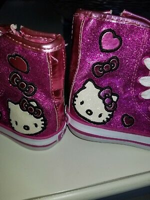 417307d7f9f PINK HELLO KITTY Shoes Little Girls Size 6 Sparkly Sanrio Sneakers ...