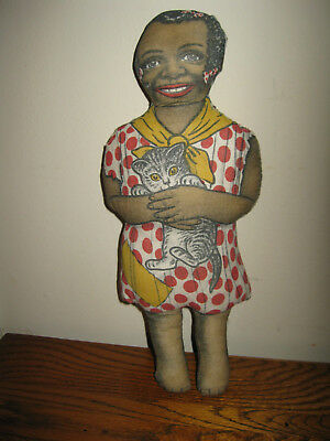 Aunt Jemima's Little Girl Diana  Vintage Cloth Dolls Black Americana