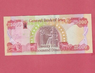 Iraq~25,000 CRISP IRAQI DINAR 2015 WITH NEW SECURITY FEATURES UNC