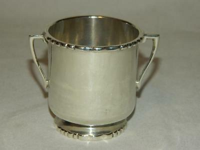 Vintage Signed Sanborns Taxco Mexico Sterling Silver Child's Cup 105 Grams
