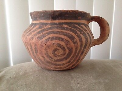 """ANCIENT Chinese Neolithic Ceramic Vessels Over 5000 Years Old 6""""wide 3 3/4""""high"""
