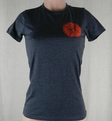 Jack Daniel's Tennessee Fire Old No. 7 Women's Short Sleeve T Shirt-Gray/Red-M
