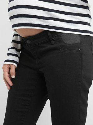 GAP Maternity Inset Panel True Skinny Black Jeans 295388 NWoT $74.95 Sz 26 28 29