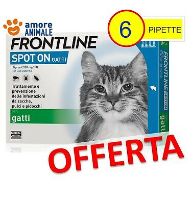 Frontline Spot On Gatto - 6 pipette - Antiparassitario per gatti ( 4 + 2 ) NEW