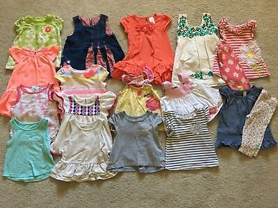 Lot Of 17 Pieces ~ Baby Girl Clothes Outfit ~ Size 12 Months