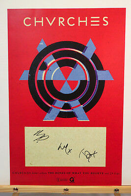 *Love Is Dead* Chvrches Full Band Signed Bones Believe Poster Lauren Mayberry