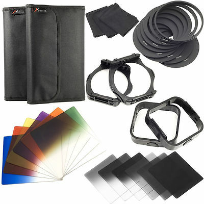 25in1 Full Graduated Color Filter + Adapter Holder + Lens Hood For Cokin P LF142