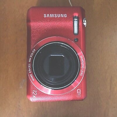 Samsung WB Series WB35F 16.2MP Digital Camera - Red