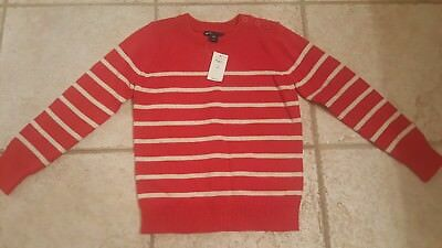 NWT Boys Baby Gap Red and white striped Sweater size 6-7