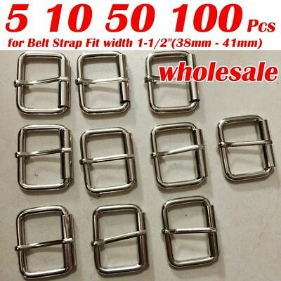 Mens Roller Belt Buckle Center Bar Nickel Free Single Prong Fit 38mm-42mm lot