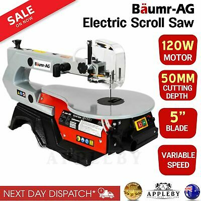 "16"" Variable Speed Scroll Saw Fret Woodwork Blades Angle Adjustable Table Saws"