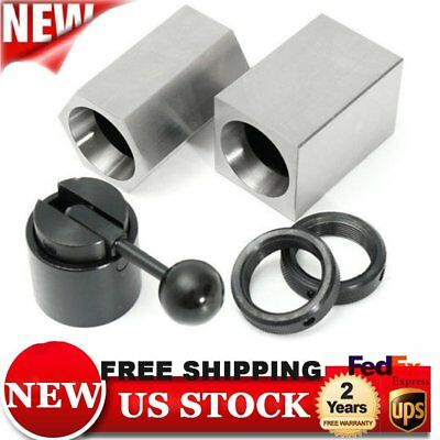 New 5C Collet Block Set- Square, Hex, Rings & Collet Closer Holder Ec