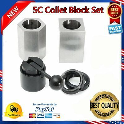 5Pcs 5C-CB Collet Block - Hex Collet Block, Square Collet Block and Collet Set C