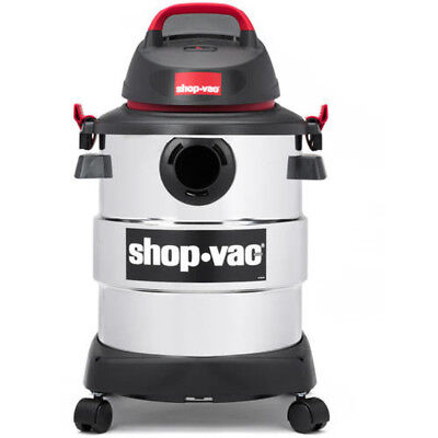 Wet Dry Vacuum 6 Gallon 4.5 Peak HP Stainless Steel with Onboard Tools Shop Vac