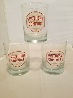 Southern Comfort glasses X3 Heavy Base Cocktail Glass ON THE ROCKS!