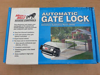 MIGHTY MULE FM143 Automatic Gate Lock Opener Single Dual Swing Electric Security