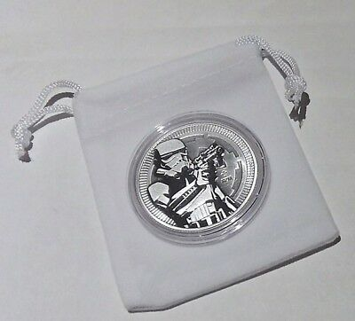 Star Wars 2018 Silver Storm Trooper BU Coin with Extras